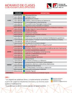 Arquitectura - Horario Optativas 2018 (1)