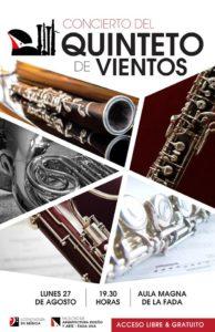 Concierto Quinteto de Vientos – Aula Magna FADA/UNA