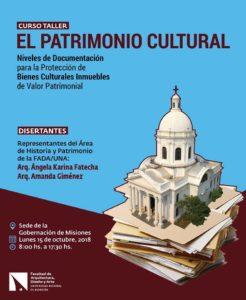 """Curso Taller """"El Patrimonio Cultural. Niveles de Documentación para la Protección de Bienes Inmuebles de Valor Patrimonial"""""""