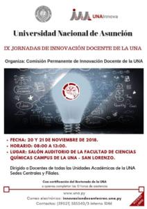 IX Jornadas Innovación Docente de la UNA 2018