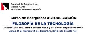 Curso de Postgrado: Actualización-Filosofía de la Tecnología- 2018