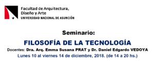 Seminario: Actualización-Filosofía de la Tecnología- 2018