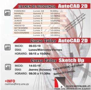 Autocad FADA/UNA, Examen de Suficiencia, Curso Taller