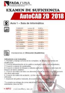 Autocad FADA/UNA, Examen de Suficiencia