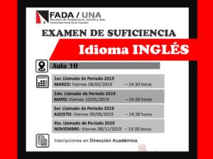 Examen de suficiencia Idioma INGLES