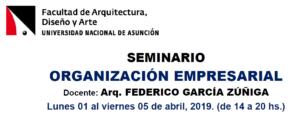 Seminario «Organización Empresarial»
