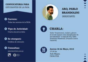 Charla de interés académico del Arq. Brandolini (Argentina)