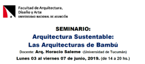 Seminario de Actualización Arquitectura del Bambú