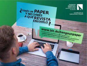 Apoyamos a los docentes de la FADA para publicar sus artículos o papers en revistas científicas