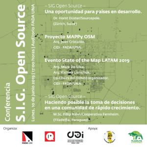 Conferencia S.I.G. Open Source