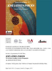 Presentación del Libro José Laterza Parodi de la serie Grandes Artistas Paraguayos