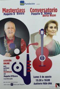 Masterclass Conversatorio «Paquito D´ Rivera – Berta Rojas»