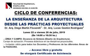 Ciclo de Conferencias «La Enseñanza de la Arquitectura desde las Prácticas Proyectuales»
